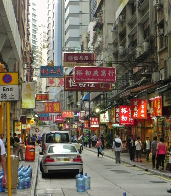 China, Hong Kong, Street, Signs