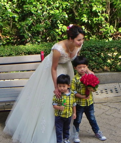 China, Hong Kong, Hong Kong Park, parks, wedding