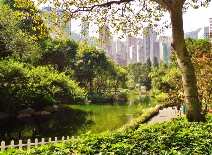 China, Hong Kong, Hong Kong Park, parks, lake