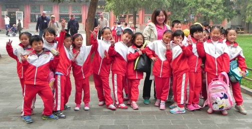 China, School Class, Summer Palace, Beijing, children