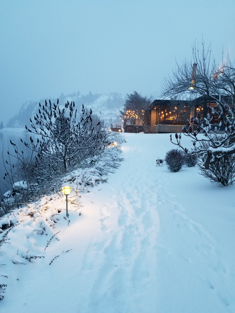 snow in Hood river