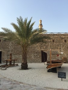 The courtyard of the Dubai Museum.