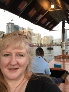 Taking a dhow ride on Dubai Creek.