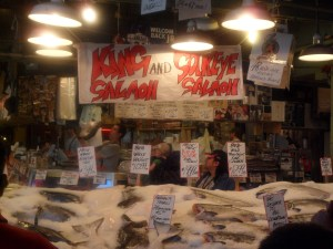 Fish sellers, Pike Place Market, Seattle