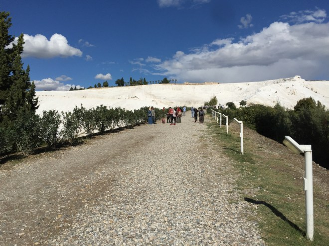 'Running up that hill' at Pamukkale, Turkey