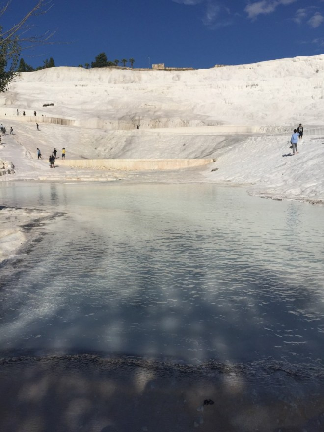 A very unusual landscape at Pamukkale