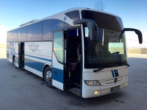 The JETT bus from Amman to Petra