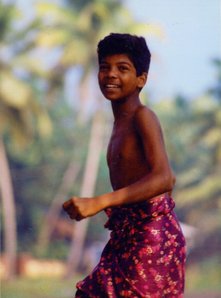 Indian boy in Kerala
