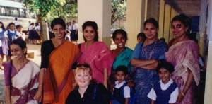 Staff at Holy Cross School, Kerala, India