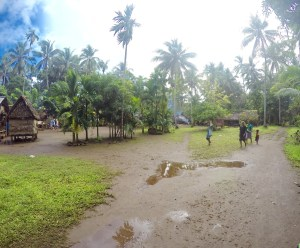 Approaching one of the small villages on Kiriwina Island (one of the Trobriand Islands of Papua New Guinea)