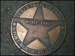 Wyatt Earp's Star of Fame in Fort Worth, Texas