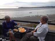 Sandy and Holly overlooking Birch Bay.