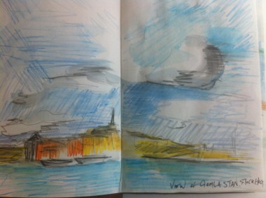 Sketch of Gamla Stan from my Sweden Sketchbook
