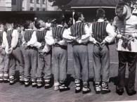 Folk dancers at Europeade the European Folk Festival in Riga, Latvia.