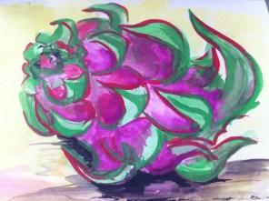 Dragon Fruit, from my Hong Kong sketchbook.