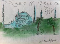 Front Page from my Turkey and Greece Sketchbook