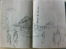 Istanbul street scene from my Turkey and Greece Sketchbook