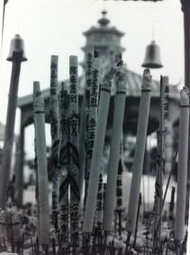 Joss Sticks burning at the Ten Thousand Buddhas Monastery in Hong Kong