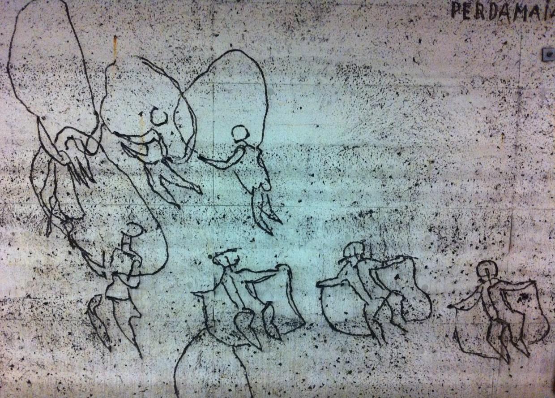 Siri Derkert's wall art at Östermalmstorg tunnelbana in Stockholm