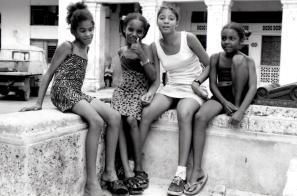 Young girls in Havana, Cuba.