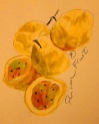 My watercolour of Passion Fruits