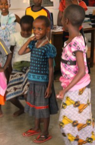 Learning some new dance steps on the International Day of the Girl Child, at Isamilo International School, Mwanza, Tanzania.