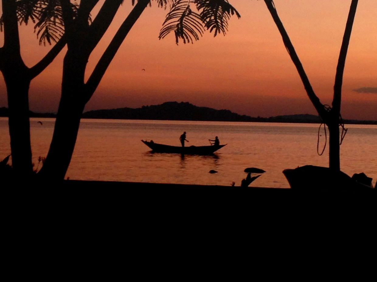 Sunrise over Lake Victoria near Mwanza, Tanzania.