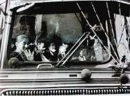 School kids on a bus in Damascus.