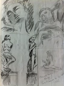 My sketches from the Cast Courts at London's Victoria and Albert Museum.