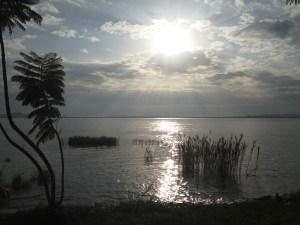 First Sunrise of 2016 on Lake Victoria, Mwanza, Tanzania.
