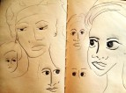 Faces - from my Tanzanian sketchbook