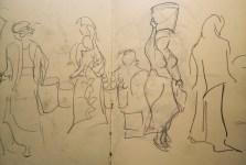 My sketch from Tanzanian market