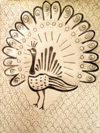 Peacock pattern from my Tanzanian sketchbook