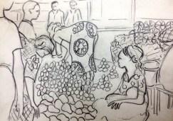 Sketch of Central Market in Mwanza, Tanzania