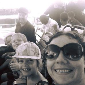 The Dunnells on the ferry en route to Zanzibar