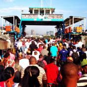 Rush hour on the Kigamboni Ferry in Dar Es Salaam, Tanzania