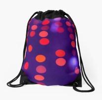 Indigo and Orange Blurred Lights - drawstring bag