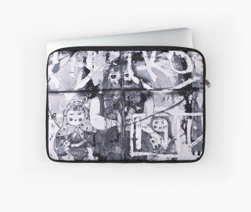Russian Graffiti on the Arbat - laptop sleeve for RedBubble
