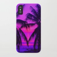 Pink Palm Trees by the Indian Ocean - i-phone case