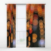 Blurred Orange Lights - window curtains