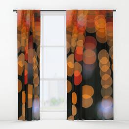 Blurred Orange Lights - window curtains