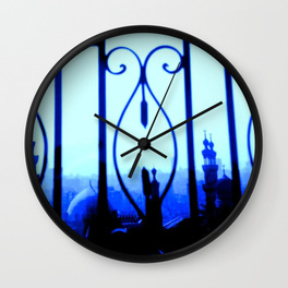 Cairo at Dusk - wall clock