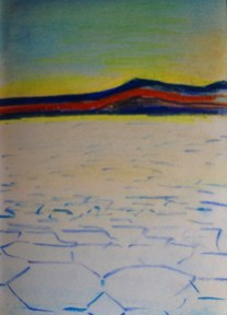 Salar de Uyuni in Bolivia from my South American Sketchbook