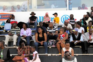 Waiting In the grandstand between races at Ngong Racecourse in Nairobi