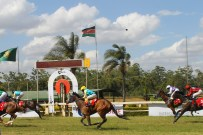 At the finish line at Ngong Racecourse in Nairobi