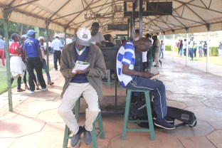 Some more serious betting going on at Ngong Racecourse in Nairobi