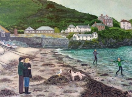 Painting of Port Isaac in Cornwall - by Lisa Davies