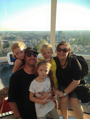 The Dunnells on the London Eye