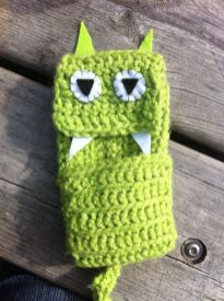 My crocheted creature iphone holder