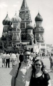 Ali and Mark in Red Square, Moscow, Russia